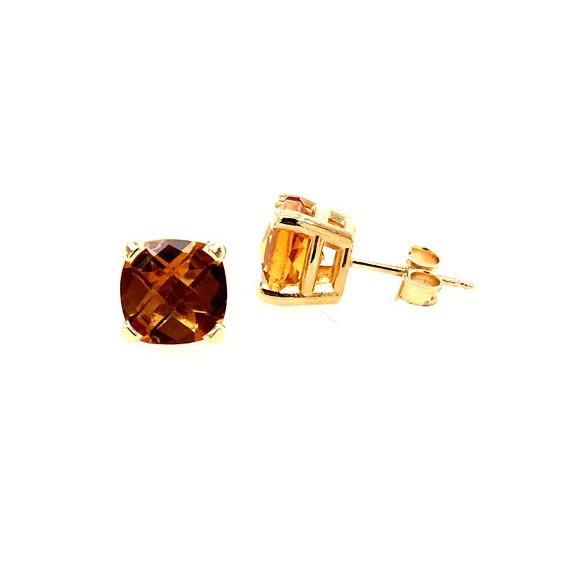 B&C Creations Citrine Stud Earrings