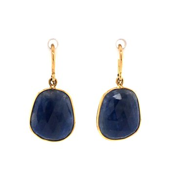 Blue Sapphire Dangle Earrings