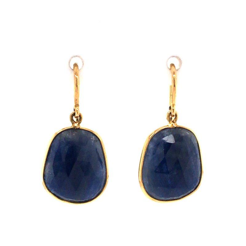 Tresor Blue Sapphire Dangle Earrings