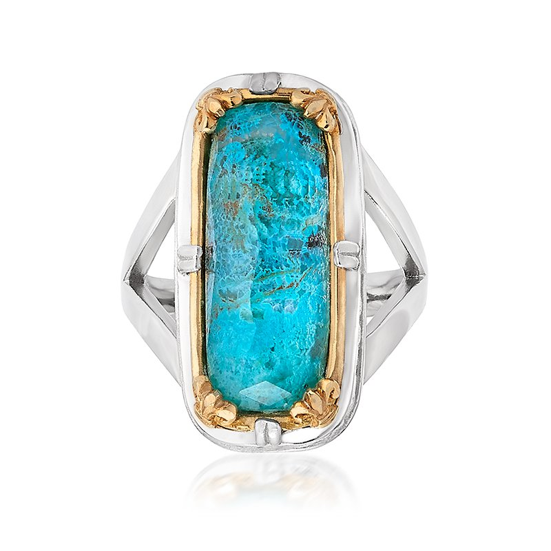 Anatoli Jewelry Chrysocolla Fashion Ring