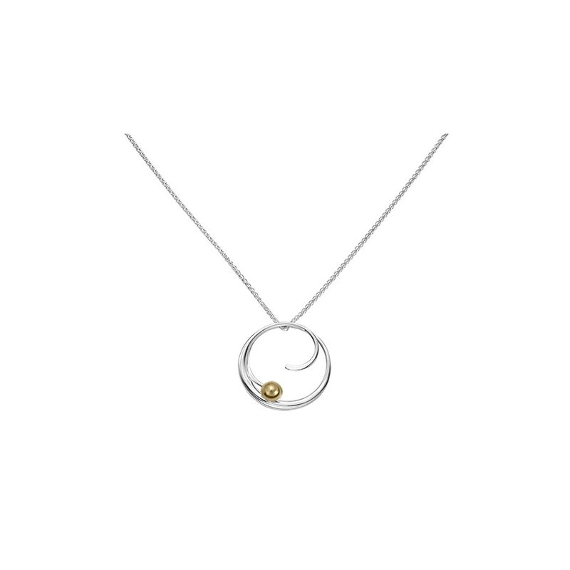 E. L. Designs IN-STORE Collection S/S Petite Bindu Pendant withYellow Gold Ball