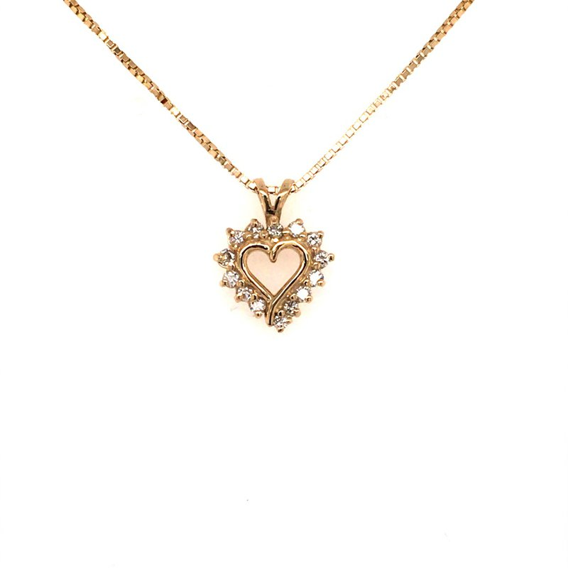 B&C Estate Collection Diamond and Gold Heart Pendant