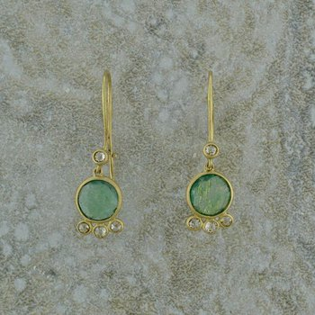 Emerald and Diamond Dangles
