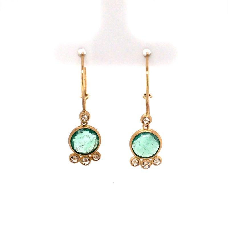 BRIAN'S VAULT Emerald and Diamond Dangles