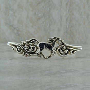 Sterling Horse Bangle