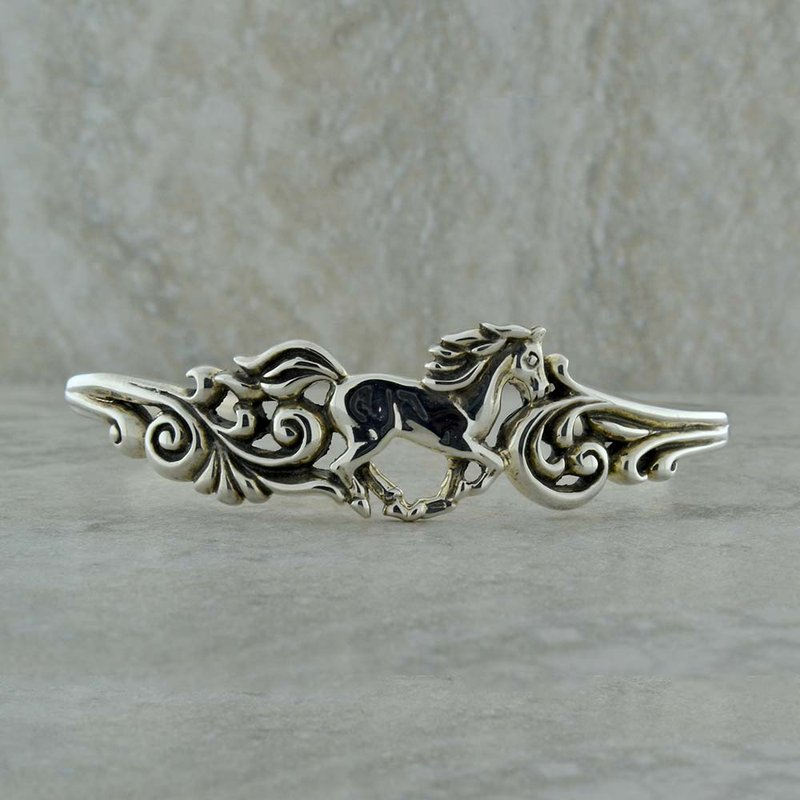 BRIAN'S VAULT Sterling Horse Bangle