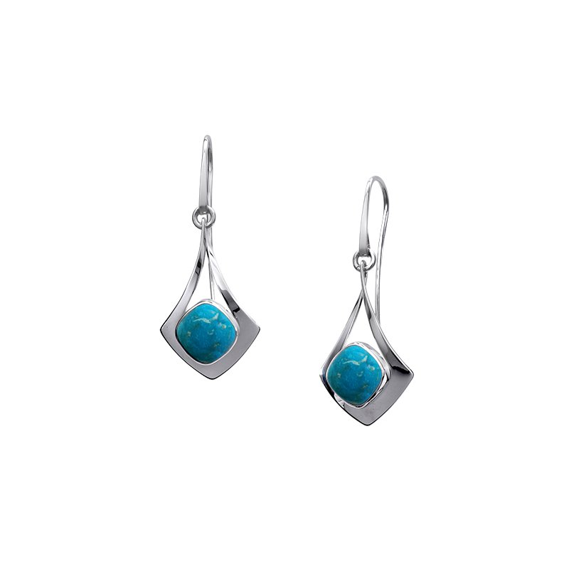 E. L. Designs IN-STORE Collection S/S Free Flight Turquoise Earrings