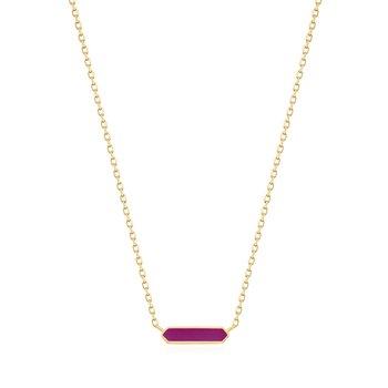 Berry Enamel Bar Necklace