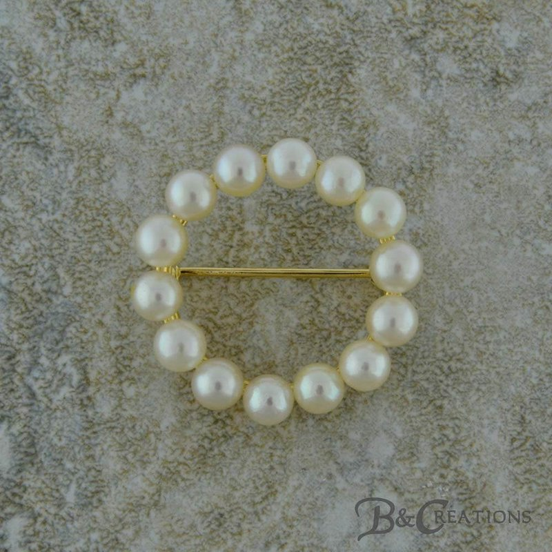 B&C Estate Collection Pearl Circle Pin