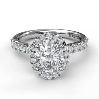 Oval Halo EngagementRing