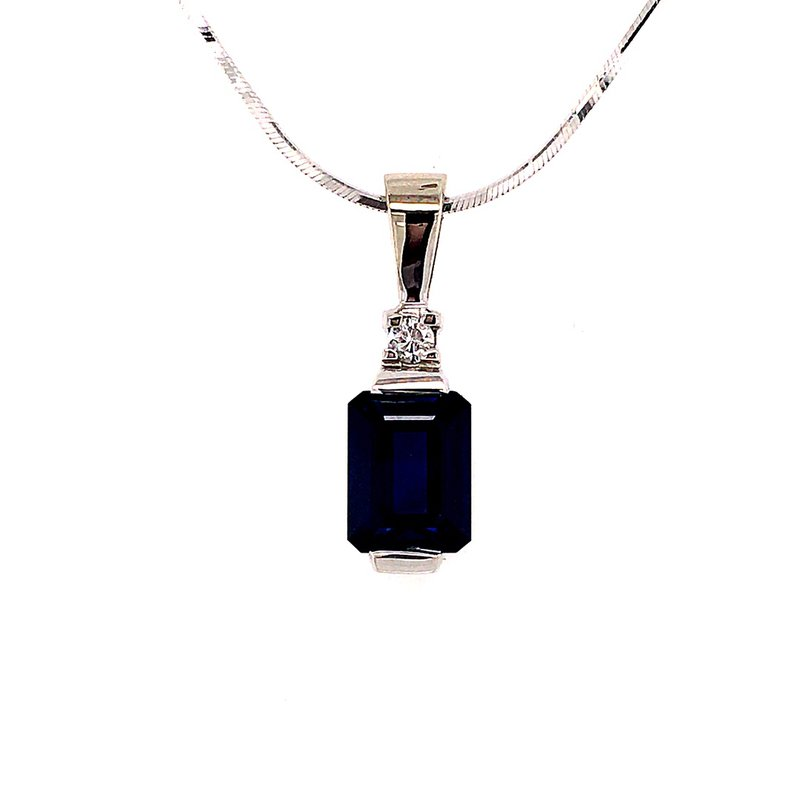 B&C Estate Collection Synthetic Blue Sapphire Pendant