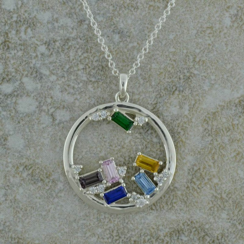 B&C Collections Six Stone Mother's Necklace