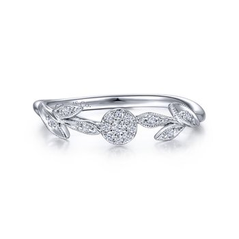 Diamond Floral Stackable Ring