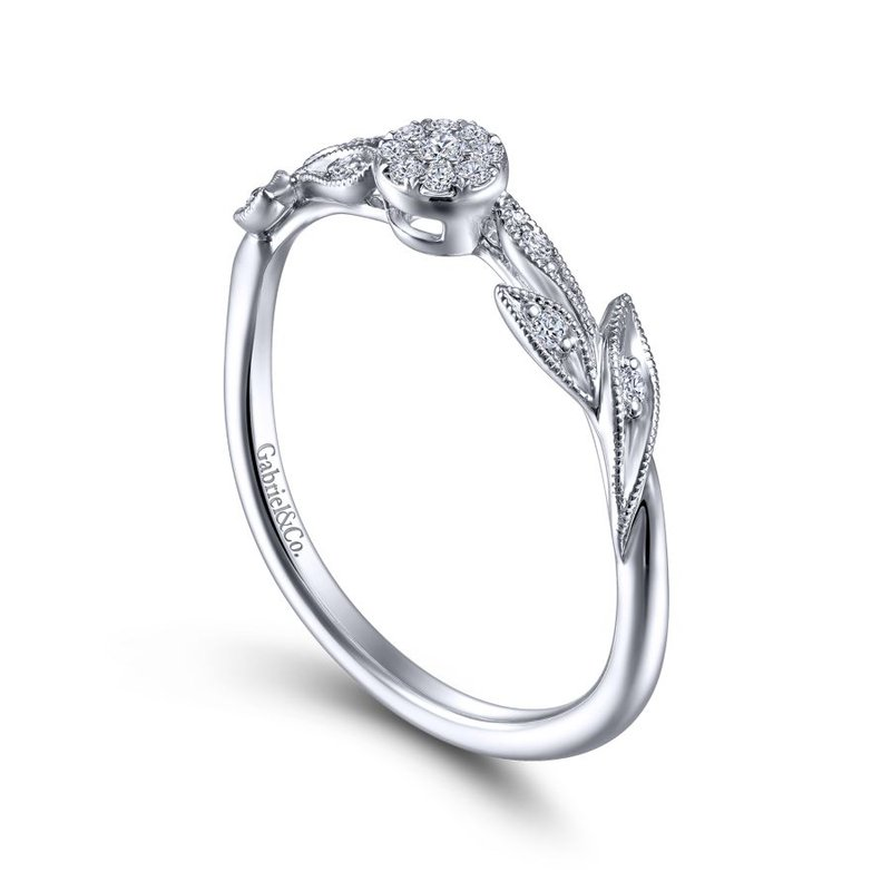 Gabriel & Co. -  IN-STORE COLLECTION Diamond Floral Stackable Ring