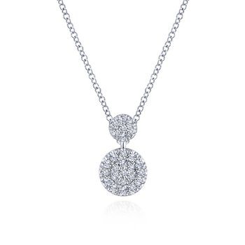 Double Disc Diamond Necklace