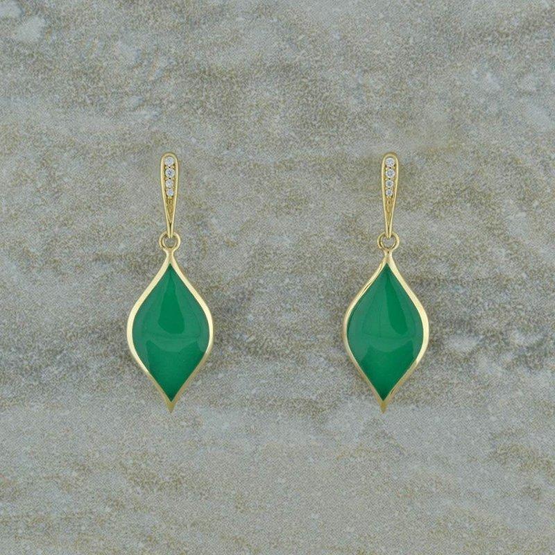 Kabana Chrysoprase and Diamond Earrings