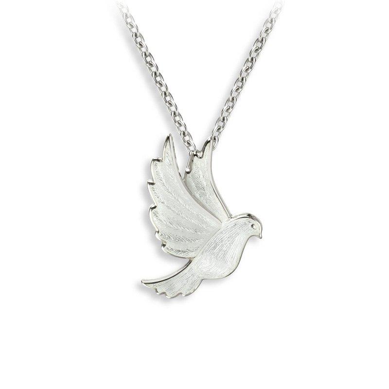 Nicole Barr Designs IN-STORE Collection White Enamel Dove Necklace
