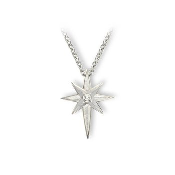 North Star Enamel Pendant