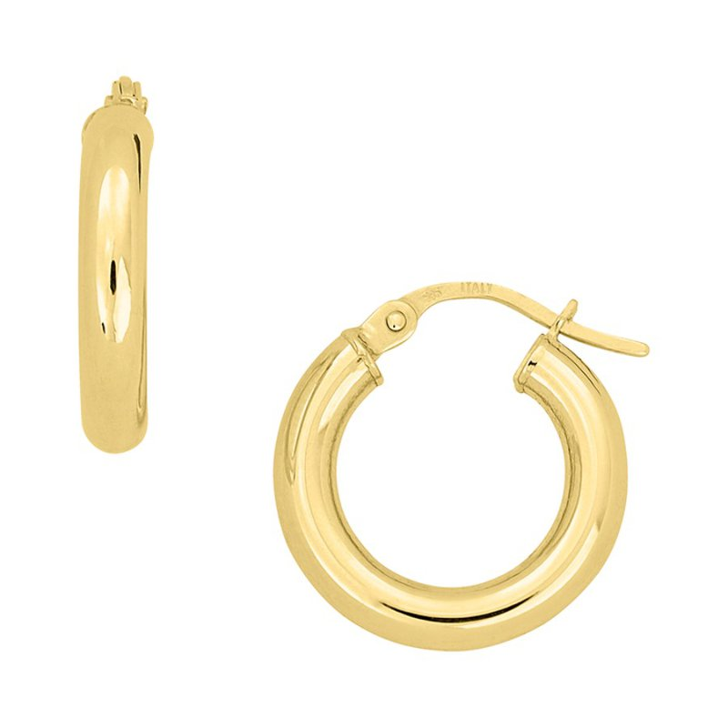 B&C Collections 10mm Yellow Gold Hoops