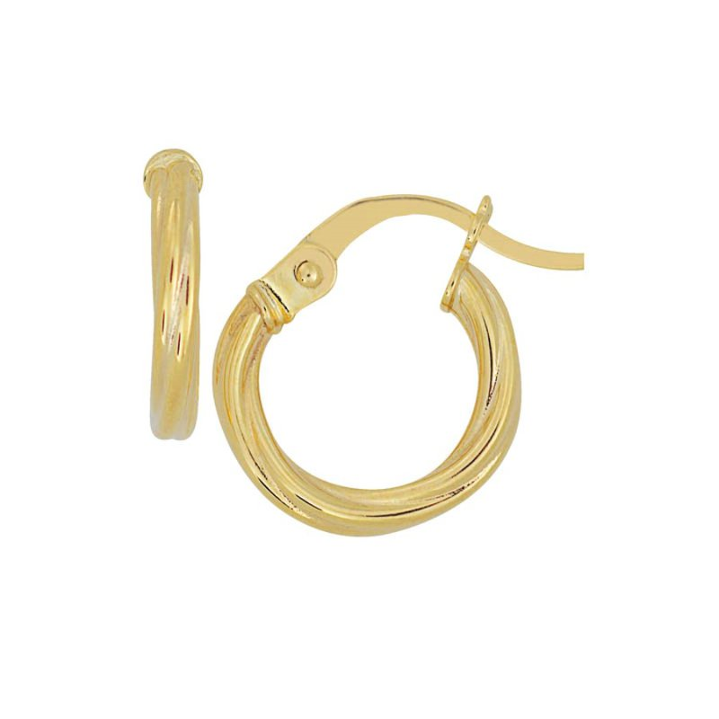 B&C Collections Tiny Twisted Hoops