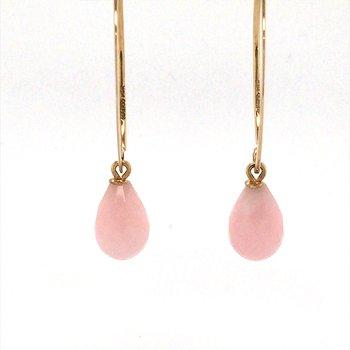 Simple Sweep Pink Opal Earrings