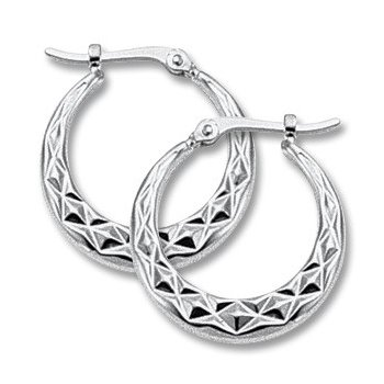 White Gold Hoops