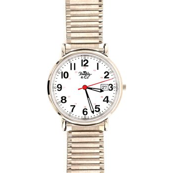 White Stretch Band Watch
