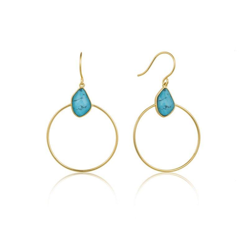 Ania Haie Turquoise Front Hoop Earrings