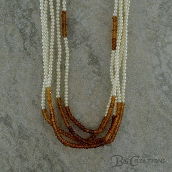 Pearl & Spessartite Necklace