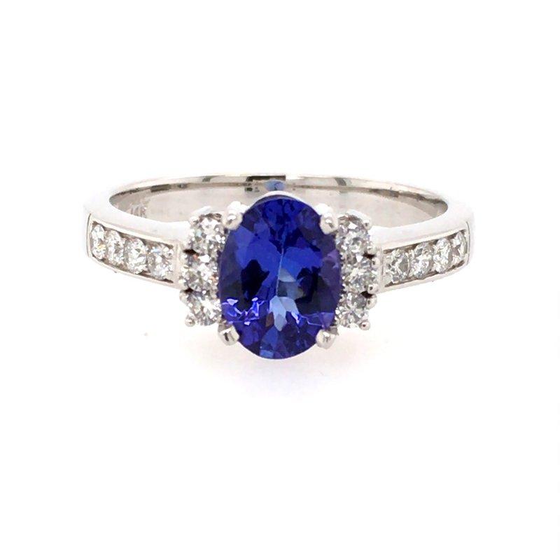 B&C Creations Tanzanite & Diamond Ring
