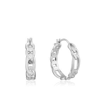 Sterling Figaro Chain Earrings