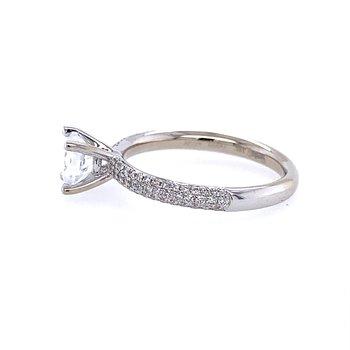 White Gold Pave' Diamond Engagement Ring