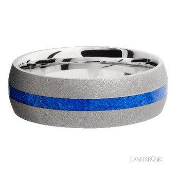 Cobalt Chrome Band with Lapis Inlay