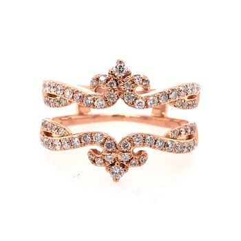Rose Gold and Diamond Engagement Ring Insert