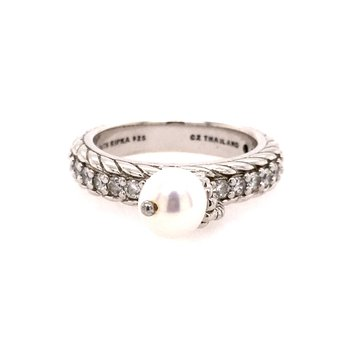 Dangling Pearl & CZ Band