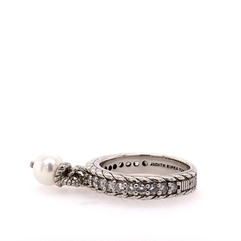 B&C Estate Collection Dangling Pearl & CZ Band