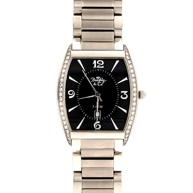 B&C Collections Diamond Accented Men's Watch
