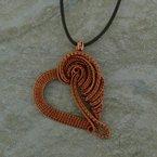 Rapt  Hand Woven Heart Pendant