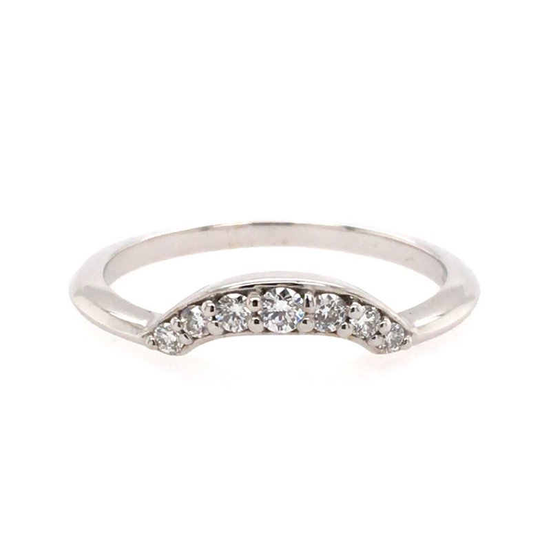 B&C Collections Curved Diamond Band