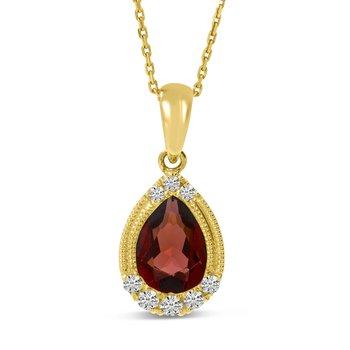 Garnet and Diamond Pendant