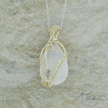 Moonstone and Sterling Pendatn