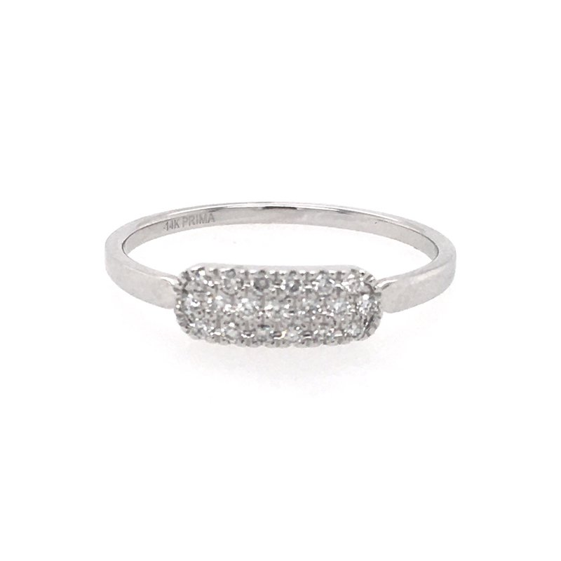 B&C Collections Pave set Bar Ring