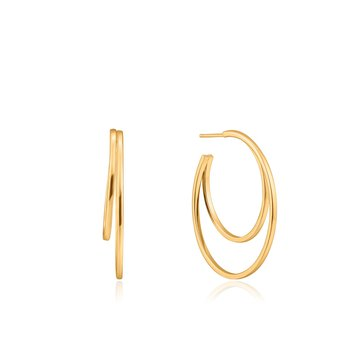 Crescent Hoop Earrings