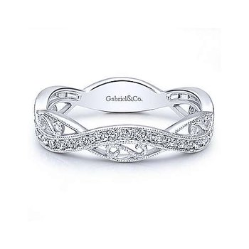 Diamond Filigree Stackable Ring