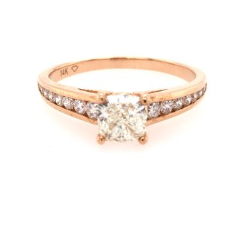 Rose Gold Diamond Engagement