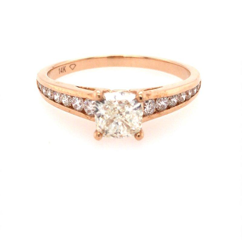 B&C Estate Collection Rose Gold Diamond Engagement
