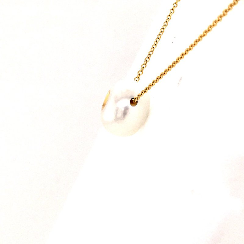 Galatea Diamond in a Pearl Necklace