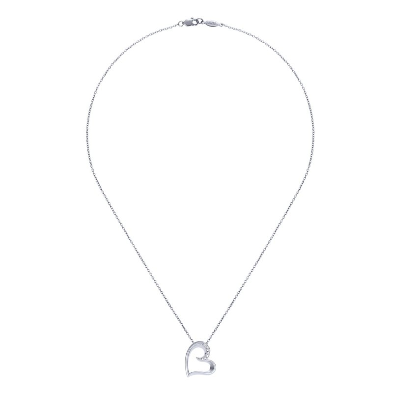 Gabriel & Co. -  IN-STORE COLLECTION Open Heart Necklace