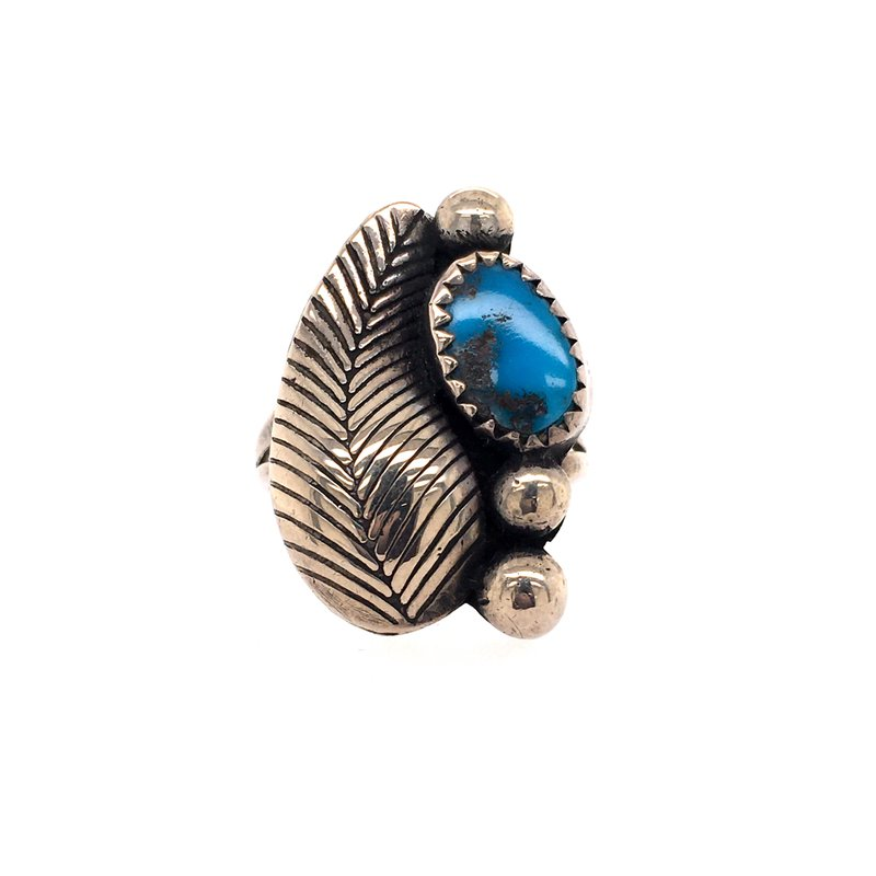 B&C Estate Collection Turquoise Leaf Ring