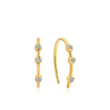 Shimmer Stud Hook Earrings